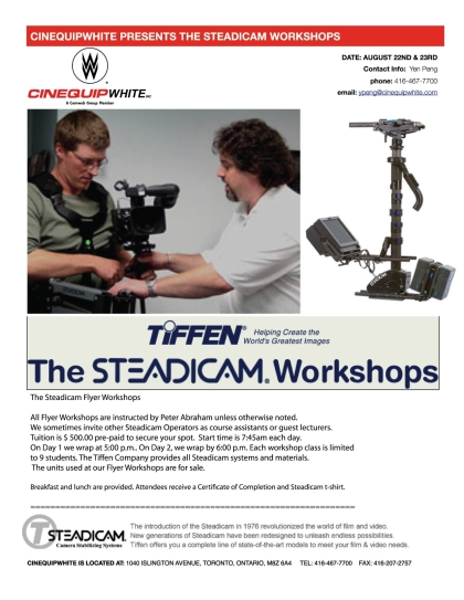 Steadicam workshop